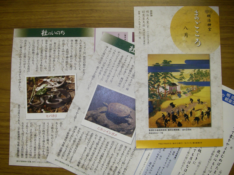 月刊リーフレット「まごころ」
